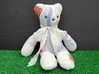 "Vintage Handcrafted Quilted Teddy Bear 16""H"