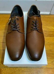 Express Cognac Oxford Leather Dress Shoe. Mens Size 10. Fast Shipping