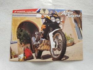 HONDA AFRICA TWIN 750 Motorcycle Sales Brochure NOV 1995 #6P-UK/D11.95