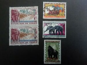 BELGISCH CONGO USED STAMPS ANIMALS