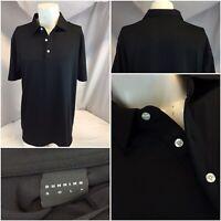 Dunning Golf Polo Shirt L Black Poly Lycra Worn Once YGI C9-469