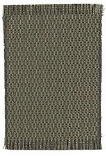 "Dollhouse Miniature self fringed rug black & gray geometric pattern 5 1/4"" x 8"""