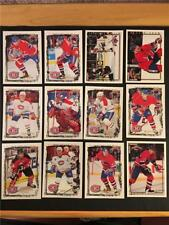 1996/97 Topps & Fleer Picks Montreal Canadiens Team Set 12 Cards Tough to Find