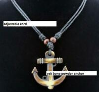 Fake yak bone powder anchor necklace surfer pendant choker necklace