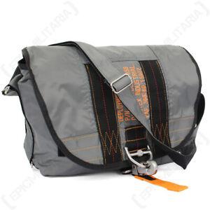 USAF Military Army Grey Nylon Waterproof Paratrooper Satchel Bag