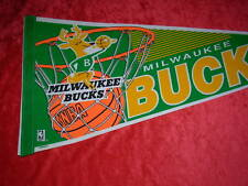 Vintage Milwaukee Bucks NBA Basketball Full Size 30 Inch Pennant