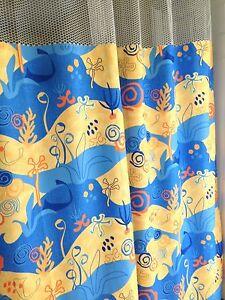 "Curtain SeaLife 144""x93 HOSPITAL CLINIC LAB Antibacterial Antimicrobial medical"