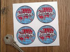 STANDARD TRIUMPH GLOBE style set 4 classic car stickers