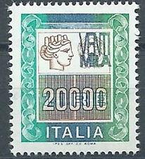 1987 ITALIA ALTO VALORE 20000 LIRE MNH ** - ED4