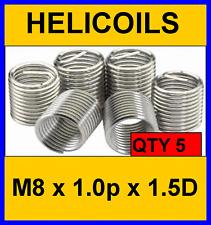 M8 x 1.0P HELICOIL THREAD REPAIR INSERTS (1.5D) QTY- 5