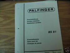 Palfinger BS 81 Auxiliary Stabilizers Spare Parts List