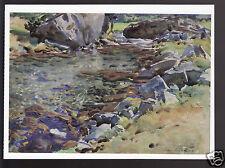 JOHN SINGER SARGENT Brook Among Rocks (1906-08) Painting ARTWORK MODERN POSTCARD