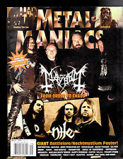 Metal Maniacs Magazine - Mayhem, Nile  September  2007 Free US S/H