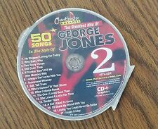 GEORGE JONES GREATEST HITS VOL 2 COUNTRY KARAOKE CDG 5074-02 CD+G MUSIC 17 SONGS