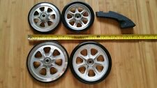 4 Wheels (2 large and 2 small) and brake arm & pad for LandRoller Terra 9 skates