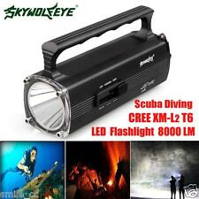 8000LM CREE XM-L T6 Scuba Diving LED Underwater 130M Flashlight Torch Waterproof