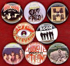 60's garage rock set of 8 NEW 1 inch pins buttons badge punk kinks monks seeds