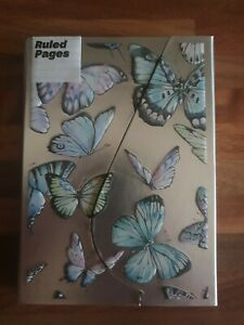 Brand new Paperchase A7 Magnetic Notebook ruled Butterflies rrp £6
