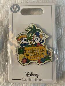 Disney Parks Caribbean Beach Resort Mickey Minnie 2021 Trading Pin NEW