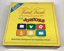 TRIVIAL PURSUIT FOR JUNIORS PARKER BROTHERS AGES 7-10 2-4 PLAYERS OR TEAMS