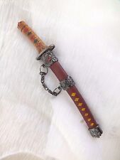 JAPANESE S SAMURAI WARRIOR STAINLESS STEEL RED LETTER ENVELOPE OPENER MENS GIFT