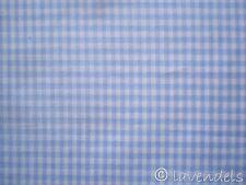 Stoff Baumwolle ♥ kariert hellblau Vichy Karo  Baumwolle pastellblau