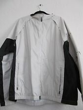 NIKE GOLF  CLIMA-FIT WINDBREAKER   ZIP SLV  PACKABLE SIZE XL IVORY AND BLACK EUC