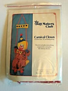 Carnival Clown ~ The Doll Makers Club Clown Making Kit ~ Complete New in Package