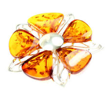 925 Sterling Silver & Baltic Amber Jewellery - PD1132 - Unique Pendant