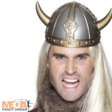 Viking Helmet with Horns Fancy Dress Book Day Week Saxon Warrior Costume Hat New