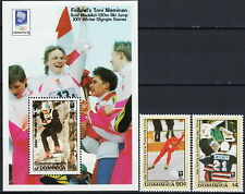 Dominica Set & S/S Olympic Games Lillehammer '94 1993 MNH-15,50 Euro