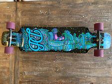 """DB Longboard """"Spaceship"""" 41"""" Skateboard with Atlas Trucks & Cloud 9 Wheels- Used"""