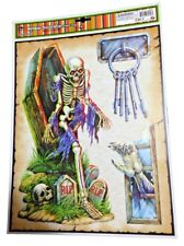 Haunted House Horror Props CREEPY DECAL CLING Halloween Decorations-SKELETON KEY