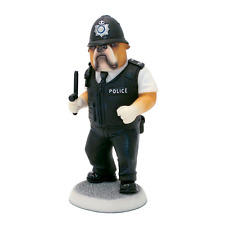 Harrop Doggie People Bulldog Policeman On Duty Dog Figurine Ornament 15cm DP214