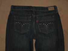 Levis 515 Size 6 Short Boot Cut Dark Blue Stretch Denim Womens Jeans