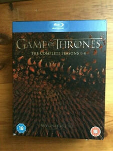 Game of Thrones Series 1 to 4 on Bluray. Excellent condition.