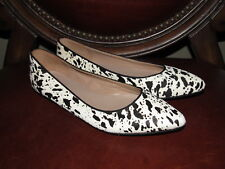 Mercanti Fiorentini Animal Print Pony Hair Pointed Toe Ballet Flat Shoes size 6
