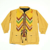 Native American Woven Jacket Womens SMALL Navajo Aztec South Western Knit