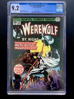 Werewolf By Night 33 - Marvel Key - Moon Knight 2nd App. 1972 - White - CGC 9.2