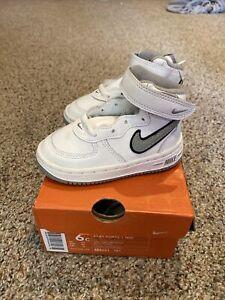 VINTAGE 2003 Nike Force 1 Mid Infant Toddler Shoes US Sz 6C 624051-101 NOS NEW