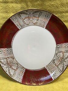Winterling Bavaria VTG Butterfly Salad Plate Gold Red