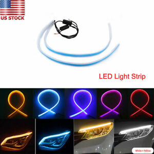 Flexible Soft Tube LED Strip Turn CAR Headlight Lamp Daytime Running Light DRL