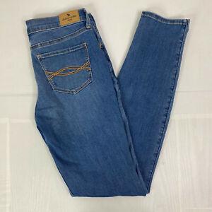 Abercrombie Kids Jeans sz 15 / 16 Light Wash Super Skinny Stretch Mid Rise