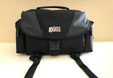 Black Canon Rebel EOS Camera Bag With Accessory Compartments