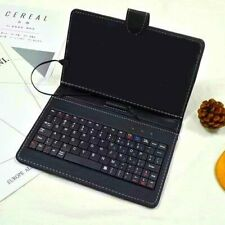 Micro USB Keyboard Case Cover For 7- 8 inch Tablet PC PU Leather w/ stand holder