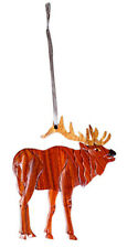 Standing Elk - Double-sided Wood Intarsia Christmas Tree Ornament - Mammal theme