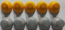 10 GameCube Joystick Caps 5 Left [Grey] and 5 Right [Yellow] Replacement Parts