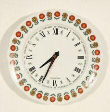 Horloge murale vintage assiette porcelaine du berry années 60/70