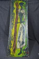Ölbild,afrikanische Frau, expressive Malerei, 60er Jahre, unleserlich signiert