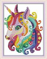 Maydear Unicorn Embroidery Kit Stamped Cross Stitch Kits 11CT 11×15(inch)